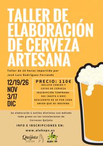 Cartel Taller de cerveza artesana