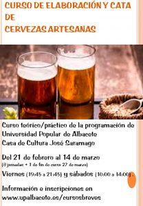 Taller de Elaboración y cata de Cervezas Artesanas UP Albacete 2020
